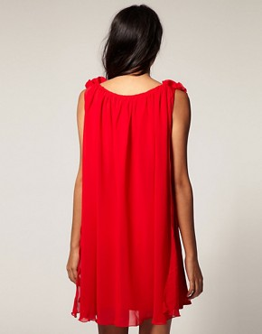 Image 2 ofPaprika Corsage Trim Shirt Dress