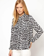 Whistles Georgia Safari Leopard Print Blouse