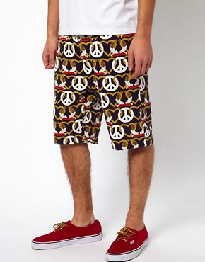 Image 1 ofKidda Christoper Shannon Shorts with Crest Print