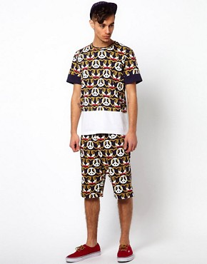 Image 4 ofKidda Christoper Shannon Shorts with Crest Print