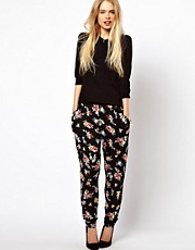 ASOS Peg Pants in Floral