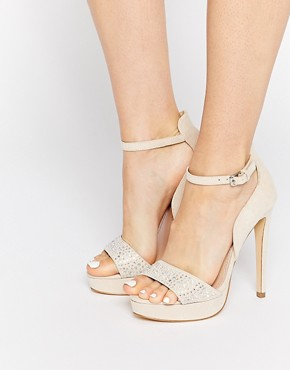 Lipsy Cheryl Embellished Gold Heeled Sandals