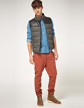 Image 4 ofASOS Wool And Leather Look Gilet