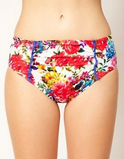 Baku - Mi Amor - Slip bikini a vita alta con stampa floreale