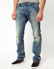Diesel - Krooley 0806P - Jeans dritti con lavaggio chiaro