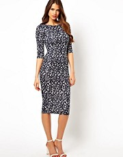 TFNC Midi Dress In Marble Print