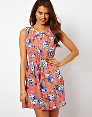 Rare Floral Belted Shift Dress