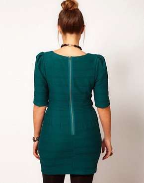 Image 2 ofASOS CURVE Exclusive Textured Pencil Dress