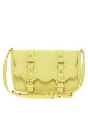 ASOS Scallop Double Buckle Across Body Bag