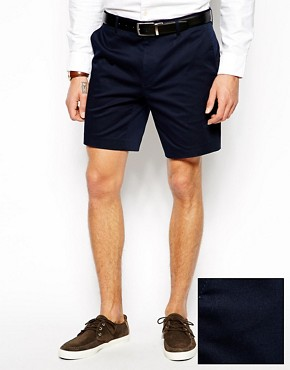 ASOS Skinny Fit Smart Shorts In Cotton Sateen