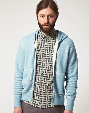 Image 1 ofWings And Horns Hooded Zip Through Sweatshirt