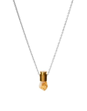 Image 1 ofLove Bullets Citine Crystal Bullet Necklace