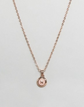 Ted Baker Mini Enamel Button Pendant Necklace