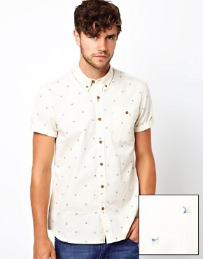 Image 1 ofASOS Shirt With Spectrum Print