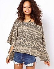 ASOS Aztec Oversized Top