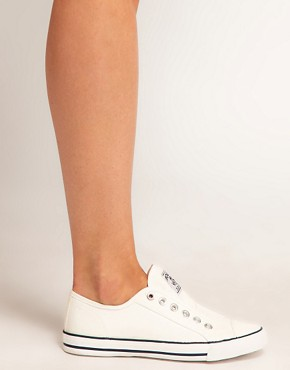 Image 3 ofNew Look America Laceless Plimsolls