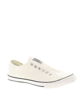 Image 1 ofNew Look America Laceless Plimsolls