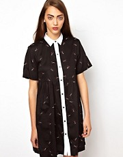 Antipodium Scissor Sisters Shirt Dress
