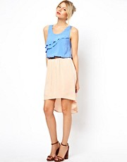 Oasis Ruffle Midi Dress