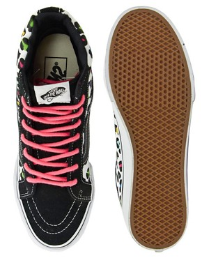 Image 3 ofVans Sk8-Hi Slim Leopard Trainers