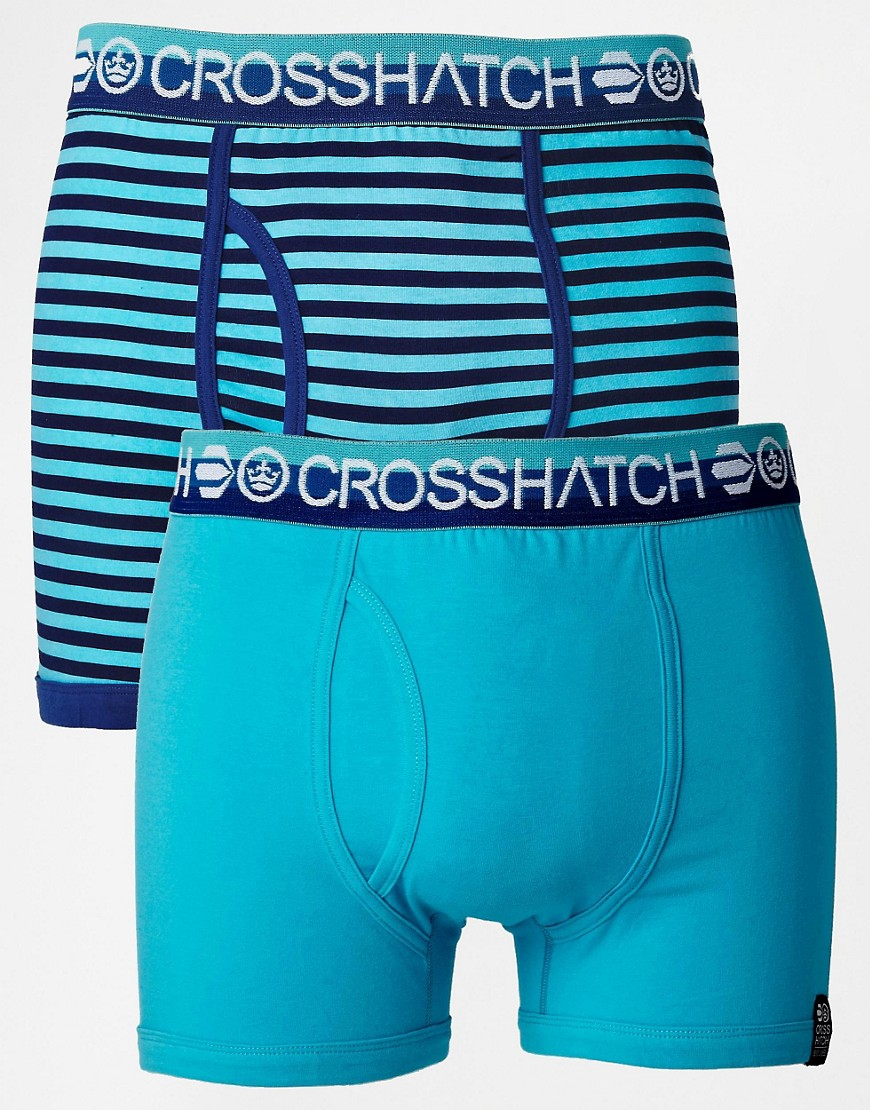 Crosshatch Trunks 2 Pack - Blue