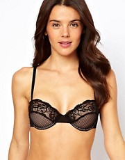 ASOS Boudoir Mesh and Fishnet Underwired Bra