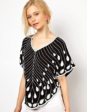 Lydia Bright Top with Embellishment