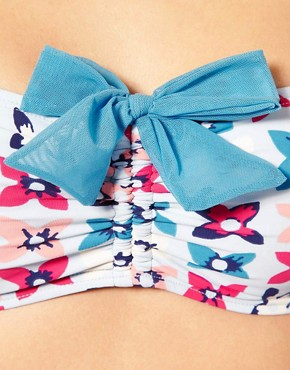 Image 3 ofMarc By Marc Jacobs  Multi Petal Print Bandeau Bikini Top