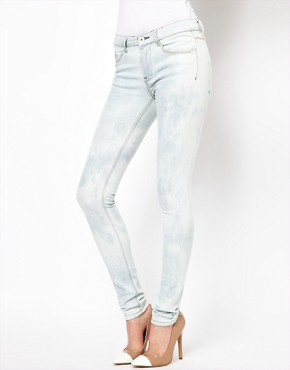 Image 1 ofASOS Ultra Skinny Jean in Bleach Wash