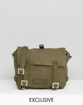 Reclaimed Vintage Satchel in Khaki