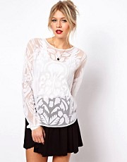 ASOS PREMIUM Top With Allover Applique
