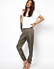 ASOS Pants In Jacquard With Zip Detail