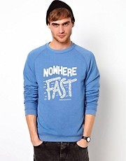 Jack &amp; Jones Sweatshirt With Nowhere Print