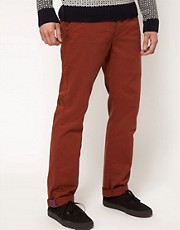 Chinos de corte slim con cinturn de Esprit