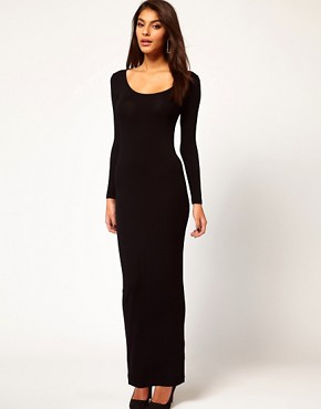 Image 2 ofASOS PETITE Exclusive Maxi Dress With Twist Back And Long Sleeves