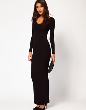 Image 4 ofASOS PETITE Exclusive Maxi Dress With Twist Back And Long Sleeves