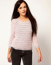 River Island Fluffy Stripe Jumper
