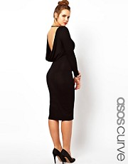 ASOS CURVE Exclusive Bodycon Midi Dress With Cowl Back