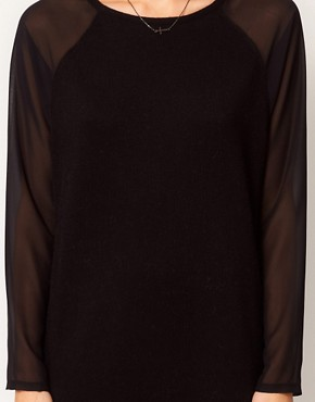 Image 3 ofASOS Sheer Sleeve Jumper Dress