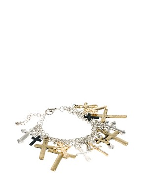 Image 1 ofASOS Cross Charm Bracelet