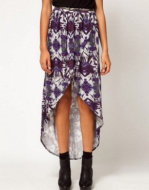 Image 4 ofRiver Island Printed Wrap Maxi Skirt