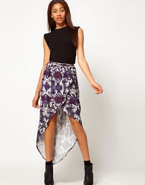 Image 1 ofRiver Island Printed Wrap Maxi Skirt
