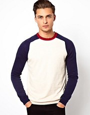 ASOS Crew Neck Jumper with Contrast Sleeves