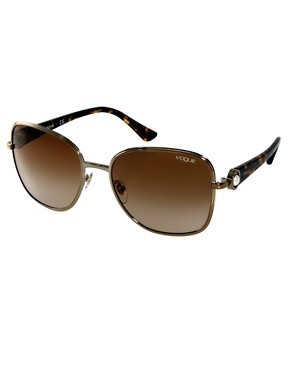 Image 1 ofVogue Round Gold Sunglasses