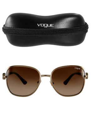 Image 2 ofVogue Round Gold Sunglasses