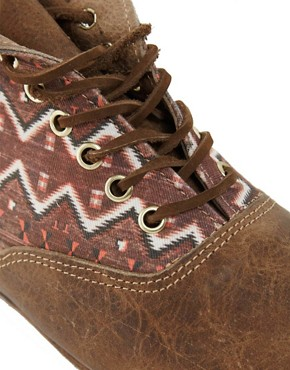 Image 3 ofOsborn Flat Foldover Tan Lace Ankle Boots