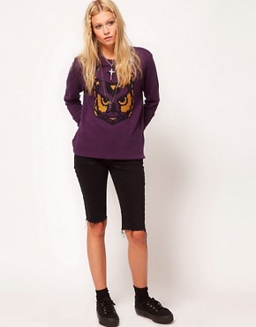 Image 4 ofASOS Sweatshirt with Embroidered Owl