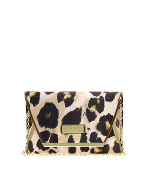 Image 1 ofRiver Island Oversize Leopard Clutch