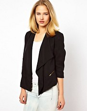 Selected Gloria Waterfall Blazer with Zip Detail