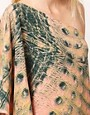 Image 3 ofDagmar Crocodile Print 1 Shoulder Dress